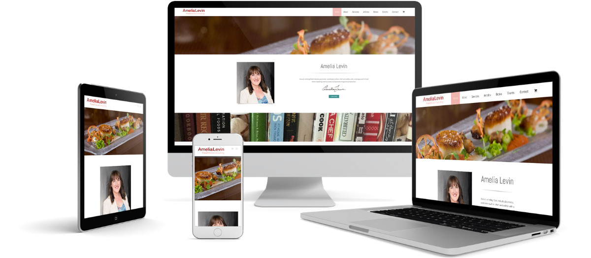 Amelia Levin Responsive Website Design