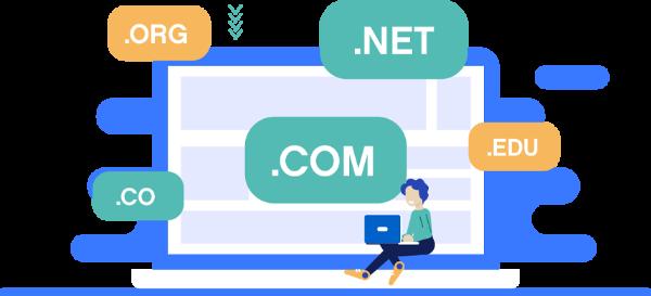 Domain Name Registration Illustration