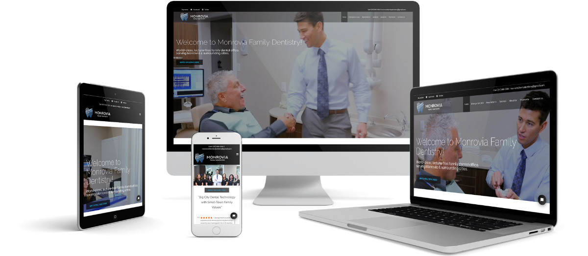 Monrovia Family Dentistry Responsive Website Design