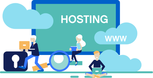 Plesk Hosting Illustration