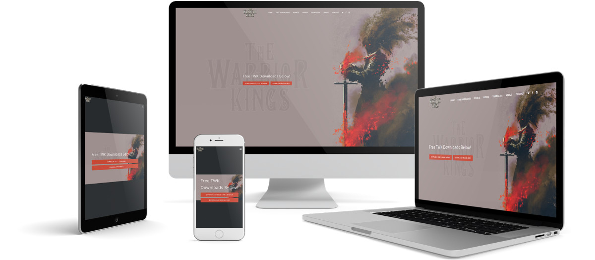 The Warrior Kings Responsive Website Design