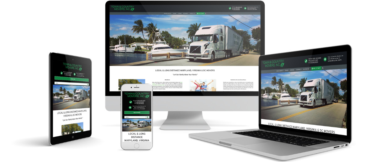 Town & Country Movers Responsive Website Design